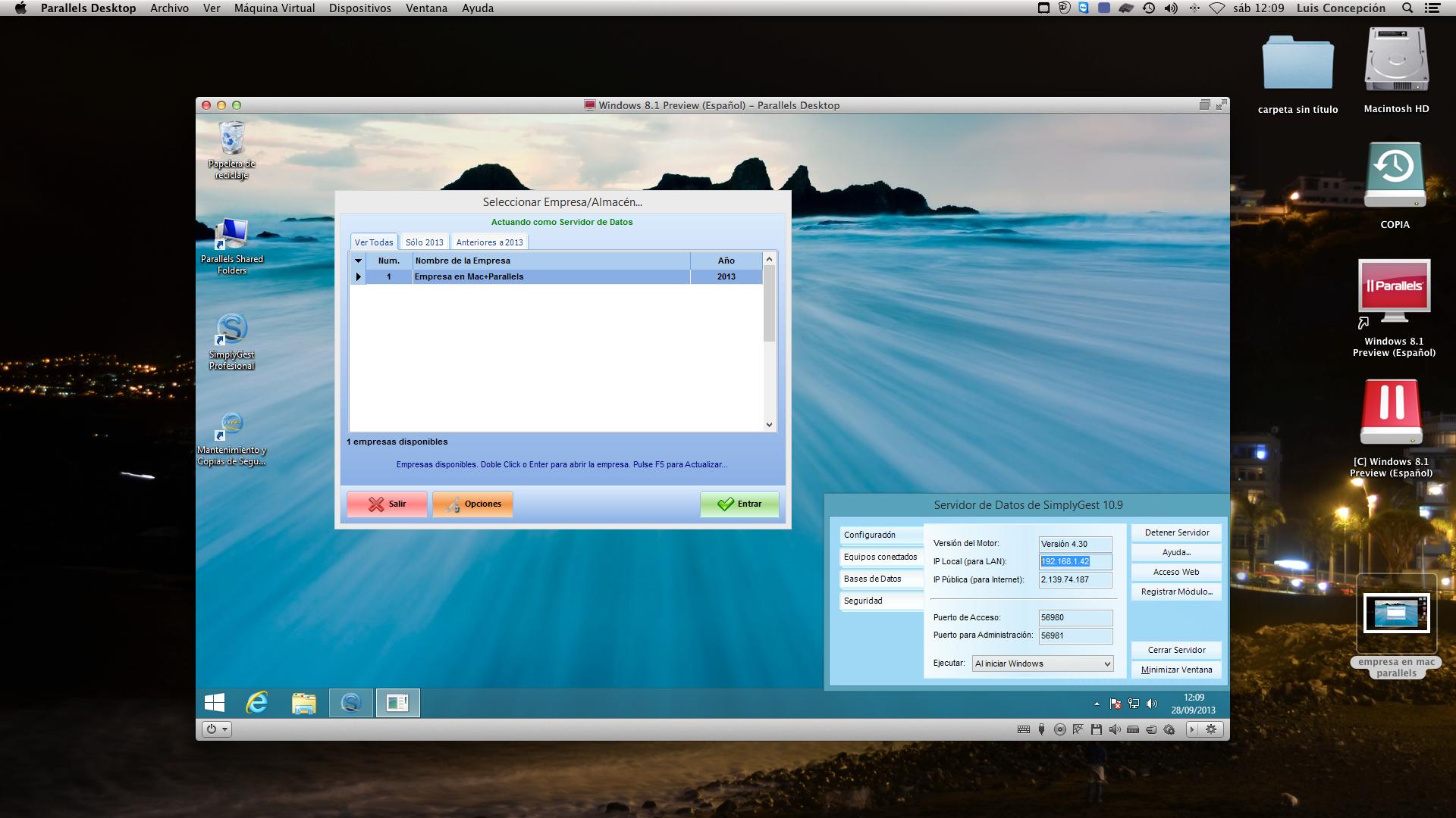 simply como server en mac