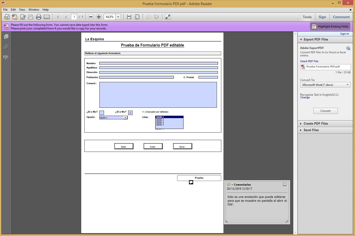 Cómo crear formularios PDF rellenables con SimplyGest – Blog del ...