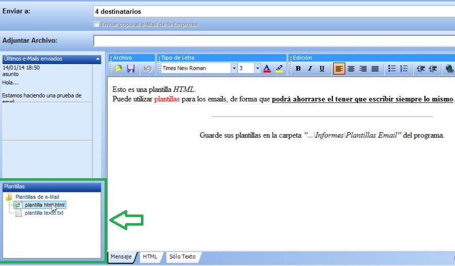 Envío de e-Mails con SimplyGest – Blog del Dpto. Técnico de SimplyGest